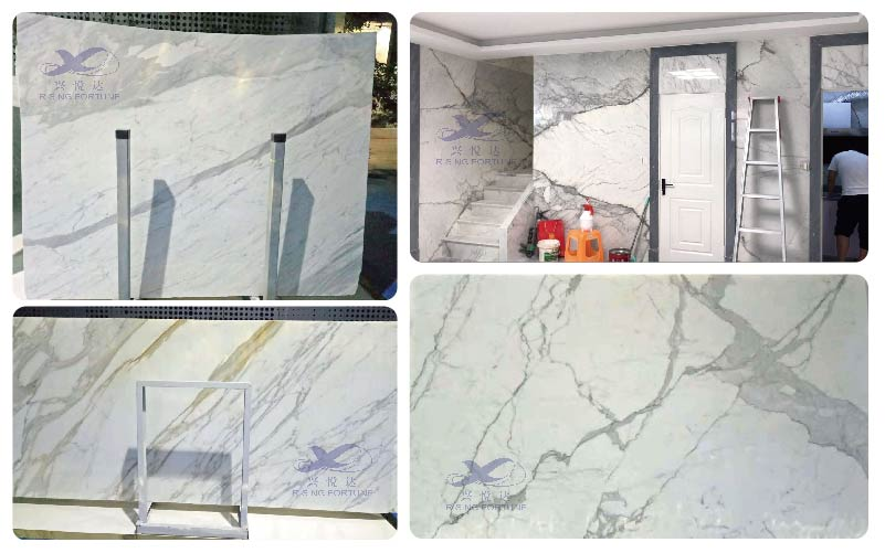 white marble with grey veins