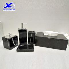 black marble bathroom set