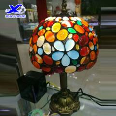 Colorful agate table lamp shade
