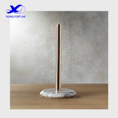 French kitchen white marble paper towel holder