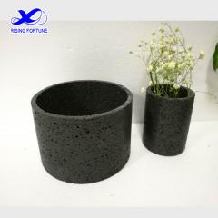 Small stone flower pots for decoration