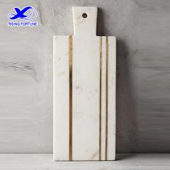 marble brass inlay cheese board