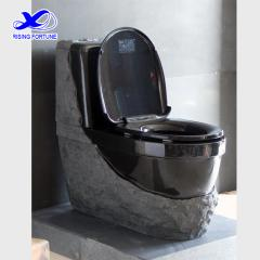 black granite toilet
