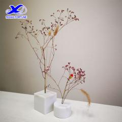 White marble artificial flower vase home decor