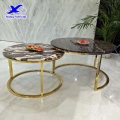 Round modern marble sofa table