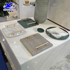 marble serving tray with handle