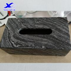 Grey marble tissue paper box cover