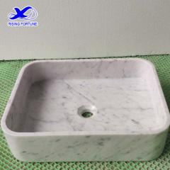 carrara marble vessel basin