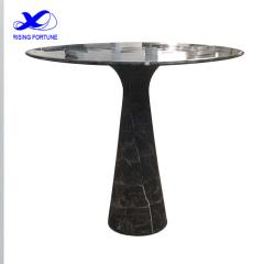 Modern brown marble tulip dining table
