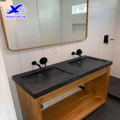 black granite trough sinks
