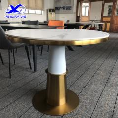 Polished artificial stone volakas white table